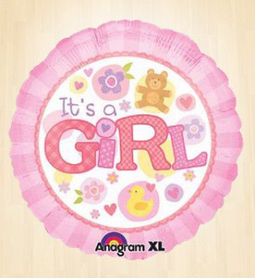 Its a Girl Pink Round Balloon